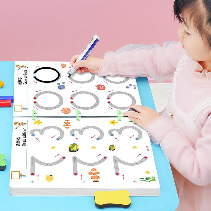 幼儿控笔训练早教运笔连线幼儿园儿童专注力益智玩具可擦早教